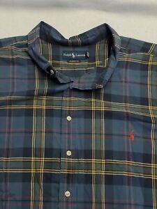 Polo Ralph Lauren Men's 5XB Big Plaid Long Sleeve Button-Up Shirt (big and tall)