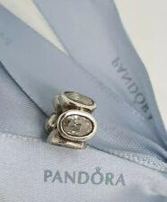 Authentic Pandora Oval Lights Clear CZ Charm Retired 790311CZ