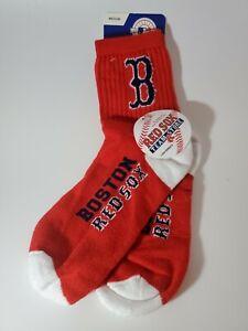MLB Boston Red Sox Baseball Quarter Socks Size Medium 5-10 NEW