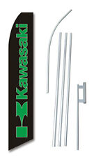 Kawasaki Banner Flag Sign Complete Tall Kit 2.5' wide Advertising