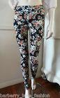 *Filo* floral print jeggings leggings sizes 8 ,10,12,14,16 roses on black