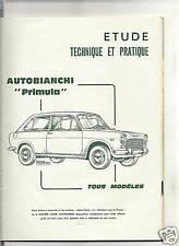 RTA REVUE TECHNIQUE 1967 - AUTOBIANCHI PRIMULA + FIAT 500 JARDINIERE