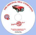 The Original MGA Companion  MG A Sports car DVD ROM