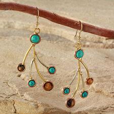 Tara Mesa Turquoise & Tiger's Eye Dangle Earrings *MSRP~$200*