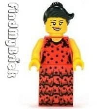 M135 Lego Flamenco Dancer Minifigure Only (No Fan No Standing Plate) - NEW