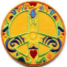 Peace sign hippie boho retro sixties flower power applique iron-on patch G-37