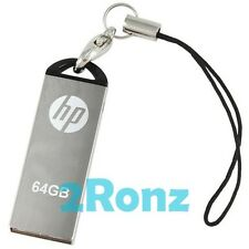 HP v220w 64GB 64G USB Flash Drive Memory Disk Stick Capless Thumb Mirror Metal