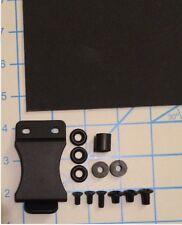 "Do It Yourself DIY IWB Large Holster Kit 1.5"" Belt Clip .080 Black Kydex 12""X8"""