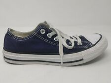 Converse All Stars Navy Blue Unisex Plimsolls Trainers Pumps Canvas 7