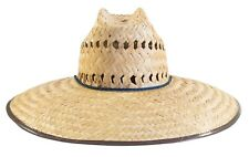 Men's Palm Braid Crushed Safari Straw Hat Hat / Sombrero de Palma Tipo Safari