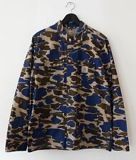 Carhartt WIP Michigan Jacket Coat Camo Blue Work In Progress Large 42