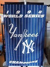 "NEW YORK YANKEES MLB 1998 WORLD SERIES CHAMPIONS WALL HANGING BANNER FLAG 45""X29"