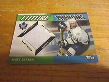 Matthew Stajan 2003-04 Topps Traded Future Phenoms #FPMS Relic Card Maple Leafs