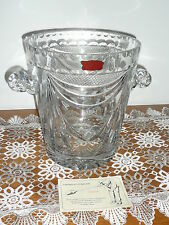 VINTAGE FRENCH HANDCUT CRYSTAL CHAMPAGNE ICE BUCKET - original box & certificate
