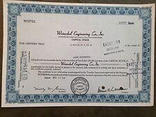 Weinschel Engineering Co., Inc. - capital stock certificate No. 3781, dated 1968