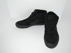 Vans Pro Skate Hi High Top Skateboard All Black Shoes Mens Size 9.5