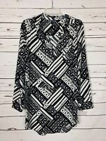 Urban Outfitters Sparkle & Fade Women's M Medium Black Long Sleeve Tunic Top
