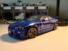 Nissan Skyline Nismo GT-R R34 Sports Resetting Blue - 20031:18 AUTOART 77359