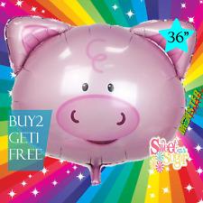 "36"" PIG SAFARI ANIMAL Centerpiece BALLOON balloons BIRTHDAY PARTY SUPPLY"