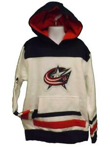 New Columbus Blue Jackets Hockey YOUTH Sizes S-M Majestic Hoodie