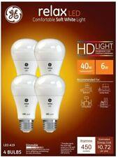 General Electric Relax Soft White HD LED 40-watt, 4pk