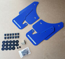 [SR] 04-09 Mazdaspeed 3 & Mazda 3 Mud Flaps Kit BLUE w/ Hardware & Vinyl Logo