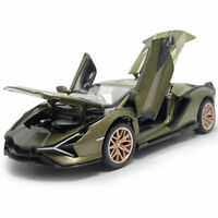 1:32 2019 Lamborghini Sian FKP 37 Model Car Diecast Toy Vehicle Green Pull Back
