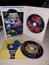 Super Mario Galaxy (Nintendo Wii Game) Complete w/ Manuals, Case & Soundtrack