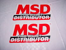 MSD PRO BILLET DISTRIBUTOR CAR DECAL APP 5X11 IN NASCAR RACING AUTO LABEL TEXT