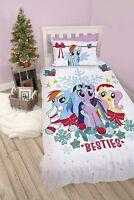 My Little Pony Besties Panel Single Bed Duvet Quilt Cover Set Brand New Gift