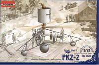 Roden 008 - Austrian helicopter PKZ- 2 WORLD WAR I - 1/72 scale model kit 83 mm