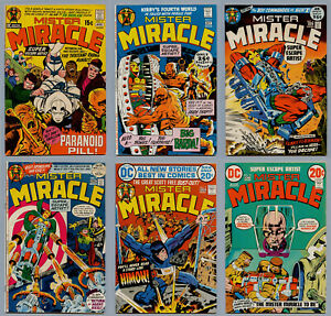 MISTER MIRACLE A LOT 17 BRONZE AGE COMICS #3-#25 FIRST BIG BARDA JACK KIRBY