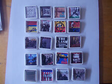 COLLECTION OF 20 THE CLASH ALBUM COVER BADGES /PINS FREE POSTAGE IN THE UK
