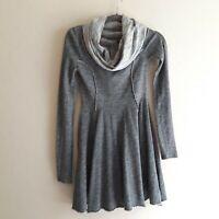 Free People Beach Womens Gray  Waist XS cowl neck sweater