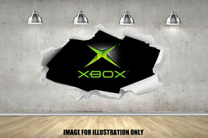 Gamer Tag X Console Hole RIP Childrens Wall Stickers Fort Bedroom Gaming Decals