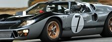 1 GT40 GT Ford 1967 Race Sport Car Vintage Racing 24 LeMan 12 Carousel Silver 18