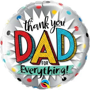 """Thank You Dad For Everything 18"""" Party Foil Balloon - Qualatex"""