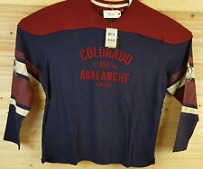 COLORADO AVALANCHE NHL Mens CCM 3XL Blue Red CREW NECK Classic Wash Jersey NWT