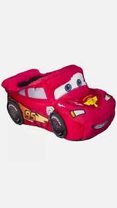 Disney Pixar Cars Lighting McQueen Toddler Boy's Slippers Size 5-6 NWT