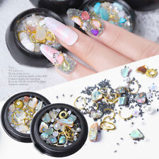 3D Crystal Rhinestones Nail Rose Stone Nail Beads Metal Rivet Nail Art Supplies