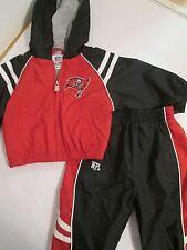 Tampa Bay Buccaneers Windbreaker Jacket Pants Kids Sz 12 Mon NFL Reebok VGUC