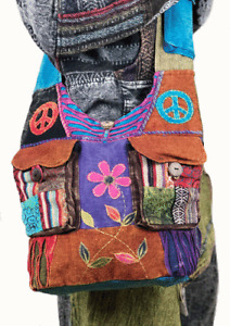 Hippie Boho Cross Body Sling Patchwork Shoulder Bag Fesitval Beach Hippy Handbag