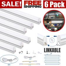 6Pack T5 LED 4FT Lights Garagе Shop Linkable 6500K Super Bright Ceiling Fixture