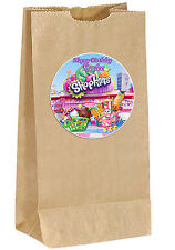 SHOPKINS birthday PERSONALIZED Sticker Labels - goody bag, loot, party, treat