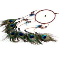 Dream Catcher Peacock Feather Wind Chimes Wall and Car Hanging Ornament Decors