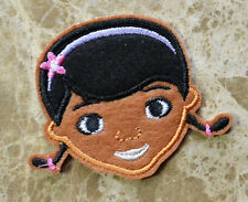 Cute Doc McStuffins Doctor head Embroidered Iron On / Sew On Patch