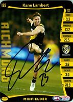 ✺Signed✺ 2019 RICHMOND TIGERS AFL Premiers Card KANE LAMBERT
