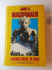 John D. MacDonald A Deadly Shade of Gold 1st Hall Large Print HC VG++ See Photos