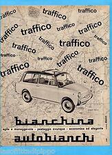 QUATTROR964-PUBBLICITA'/ADVERTISING-1964- AUTOBIANCHI BIANCHINA