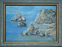 Petra Tou Romiou, Painting – Cyprus – Oil on Plywood. (Pa-003)